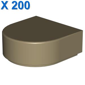 FLAT TILE 1x1 ½ CIRCLE X 200