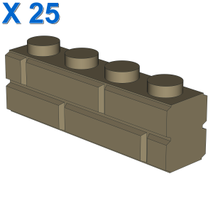 PROFILE BRICK 1x4 SINGLE GRO. X 25