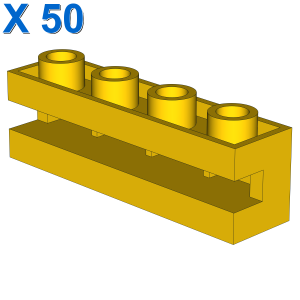 Brick, Modified 1 x 4 with Groove X 50