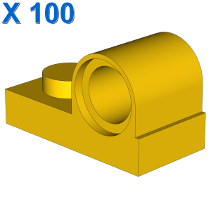 PLATE 1X2 W. HOR. HOLE Ø 4.8 X 100