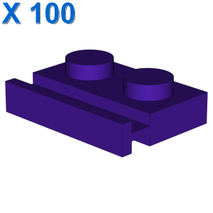 PLATE 1X2 WITH SLIDE X 100