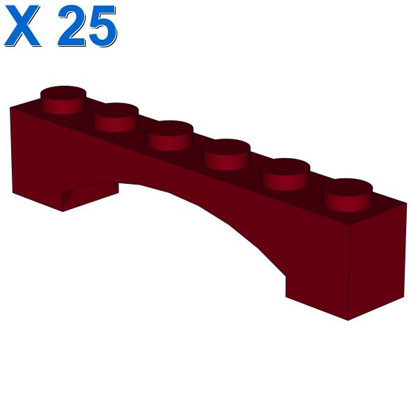 BRICK 1X6 W/INSIDE BOW X 25