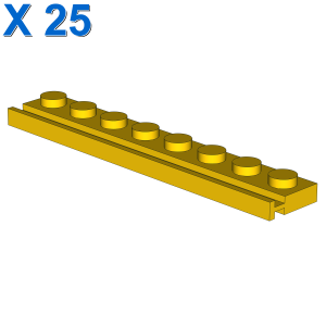 PLATE 1X8 WITH RAIL X 25