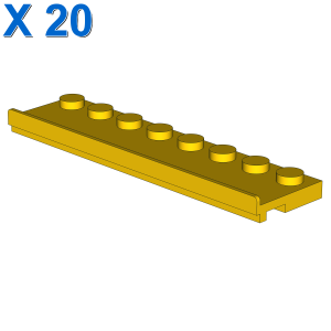 PLATE 2X8 W/GLIDING GROOVE X 20