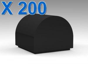 Brick, Modified 1 x 1 x 2/3 No Studs, Curved Top X 200