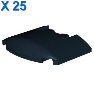 PLATE W. BOW 3X4X2/3 W. KNOBS X 25
