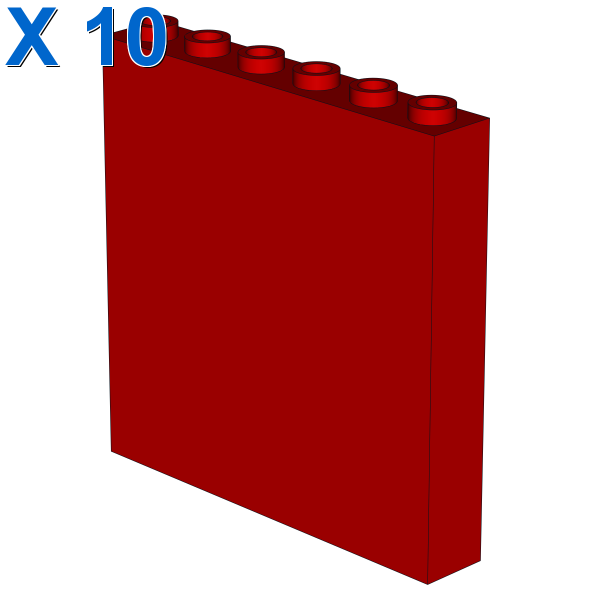 WALL ELEMENT 1x6x5, ABS X 10
