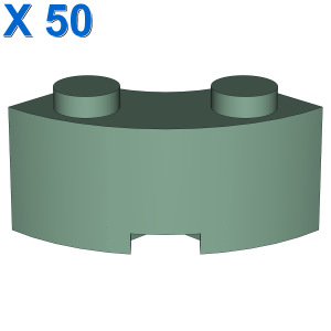 BRICK 2X2W.INSIDE AND OUTS.BOW X 50