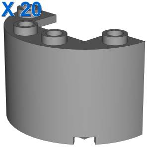 Wall 1/2 circle 2x4x2 w/cutout X 20