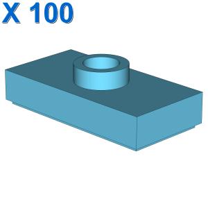 PLATE 1X2, W/ 1 KNOB X 100