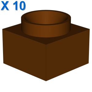 2 x 2 x Solid Pillar Base X 10