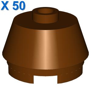 2X2 ROUND,SLOPE BRICK W. KNOB X 50