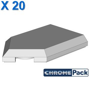 FLAT TILE 2X3 W/ ANGLE, 20 Stück