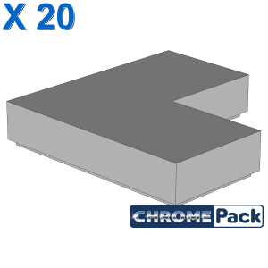 FLAT TILE CORNER 1X2X2, 20 Stück