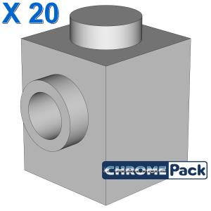 BRICK 1X1 W. 1 KNOB, 20 Stück