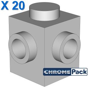 BRICK 1X1, W/ 2 KNOBS, CORNER, 20 Stück