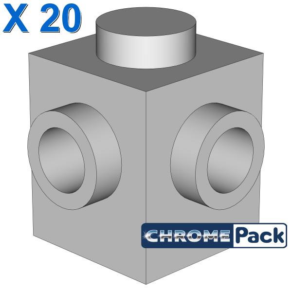 BRICK 1X1, W/ 2 KNOBS, CORNER, 20 pcs