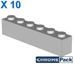 BRICK 1X6, 10 pcs