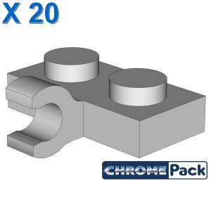 PLATE 1X2 W. 1 HORIZONTAL SNAP, 20 Stück