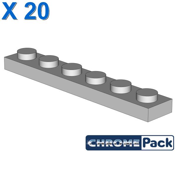 PLATE 1X6, 20 pcs