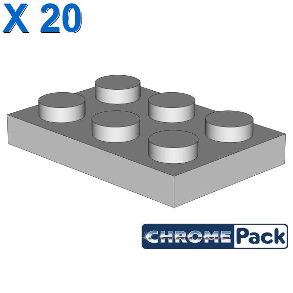 PLATE 2X3, 20 pcs