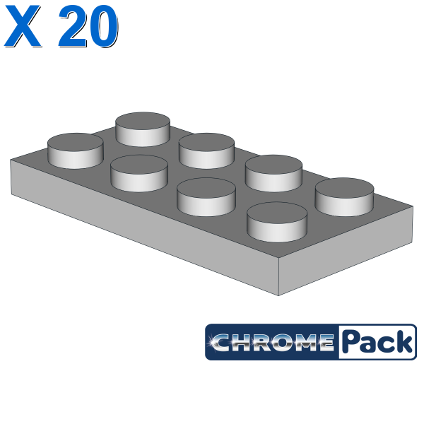 PLATE 2X4, 20 pcs