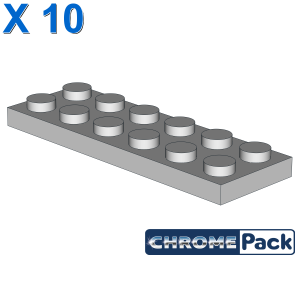 PLATE 2X6, 10 pcs