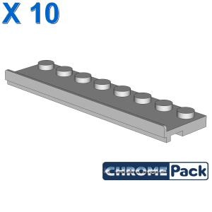 PLATE 2X8 W/GLIDING GROOVE, 10 Stück