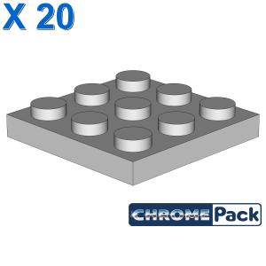 PLATE 3X3, 20 pcs