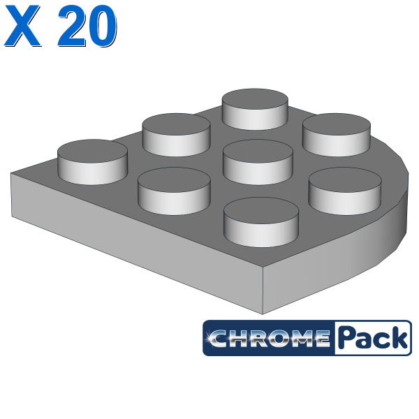 PLATE 3X3, 1/4 CIRCLE, 20 Stück