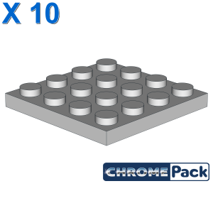 PLATE 4X4, 10 pcs