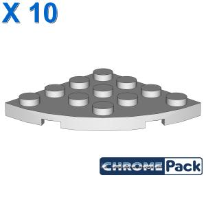 PLATE 4X4, 1/4 CIRCLE, 10 pcs