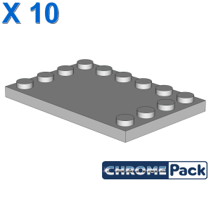 PLATE 4X6 W. 12 KNOBS, 10 pcs