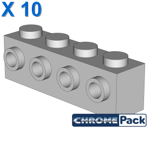 BRICK 1X4 W. 4 KNOBS, 10 pcs