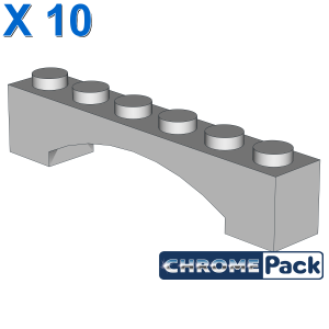 BRICK 1X6 W/INSIDE BOW, 10 pcs