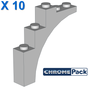 BRICK W. BOW 1X5X4, 10 pcs