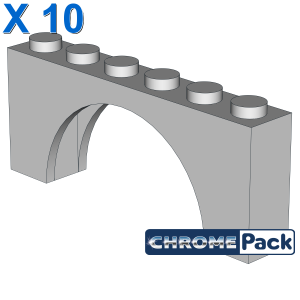 BRICK W. INSIDE BOW 1X6X2, 10 pcs