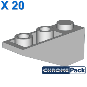 ROOF TILE 1X3/25° INV., 20 Stück