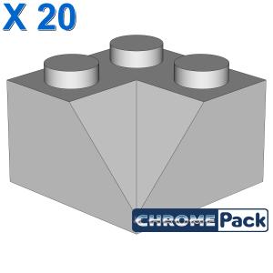 CORNER BRICK 2X2/45° INSIDE, 20 Stück