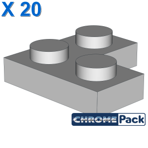 CORNER PLATE 1X2X2, 20 Stück