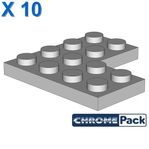 CORNER PLATE 2X4X4, 10 Stück