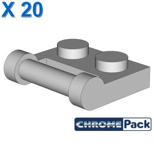 PLATE 1X2 W. STICK 3.18, 20 Stück