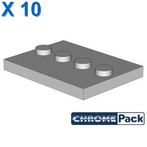PLATE 3X4 WITH 4 KNOBS, 10 Stück