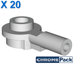 Bar 1L with 1 x 1 Round Plate with Hollow Stud, 20 Stück